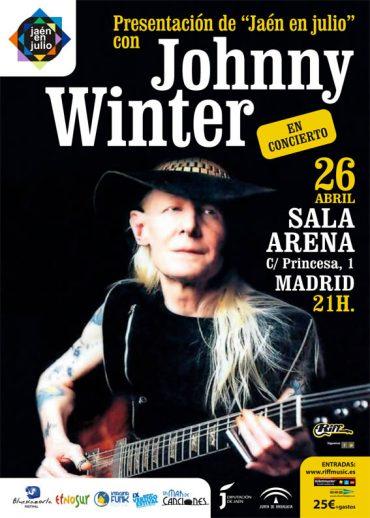 Johnny Winter gira española Jaen en Julio 2013