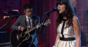 She & Him presentando Volume 3 en el show de David Letterman