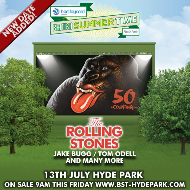 The Rolling Stones añaden un segundo concierto en el Hyde Park de Londres el 13 de julio