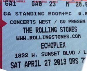 The Rolling Stones concierto en Los Angeles Echoplex