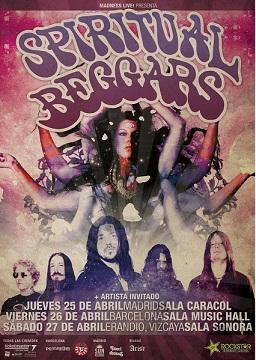Gira española SPIRITUAL BEGGARS 2013