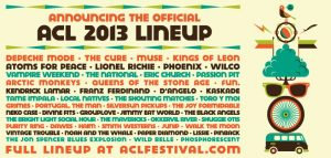 Austin City Limits el cartel del festival 2013