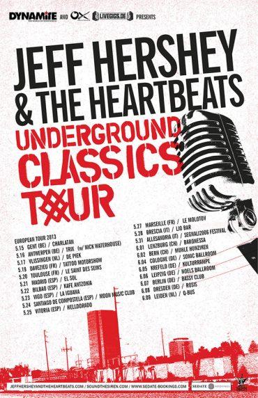 Jeff Hershey & The Heartbeats regresa a España con su gira Underground Classics Tour