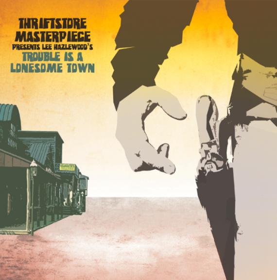 "Lee Hazlewood ""Trouble Is a Lonesome Town"" disco tributo un grande del Country Pop Rock instrumental"