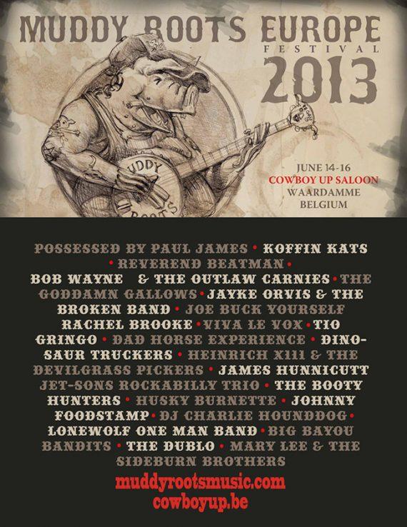Muddy Roots Europe 2013 segunda edición del festival