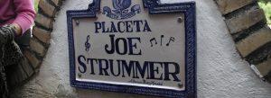 Placeta Joe Strummer en Granada, Spanish Bombs!