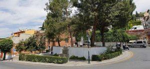 Placeta Joe Strummer en Granada, cuesta de Escoriaza