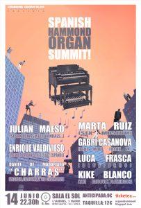 Spanish Hammond Organ Summit! Concierto en Madrid 14 Junio 2013