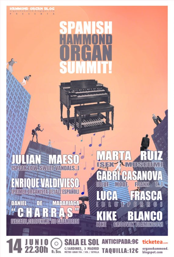 Spanish Hammond Organ Summit! Concierto en Madrid 14 Junio 2013