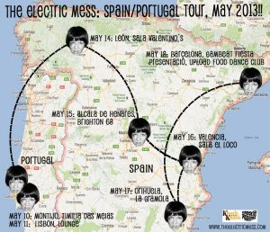 The Electric Mess gira española y portuguesa 2013 Falling Off the Face on the Earth