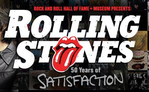 The Rolling Stones 50 Years of Satisfaction exposición en Cleveland