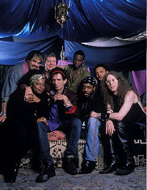 Adiós a Babi Floy ex X-Pensive Wino de Keith Richards. Babi Floyd primero por la izquierda.