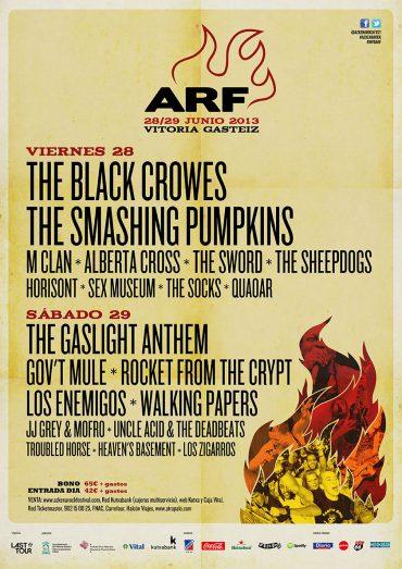 Azkena Rock Festival 2013, cartel cerrado y horarios del festival
