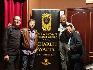 Charlie Watts, 72 años . Visita a Barcelona en el 2011