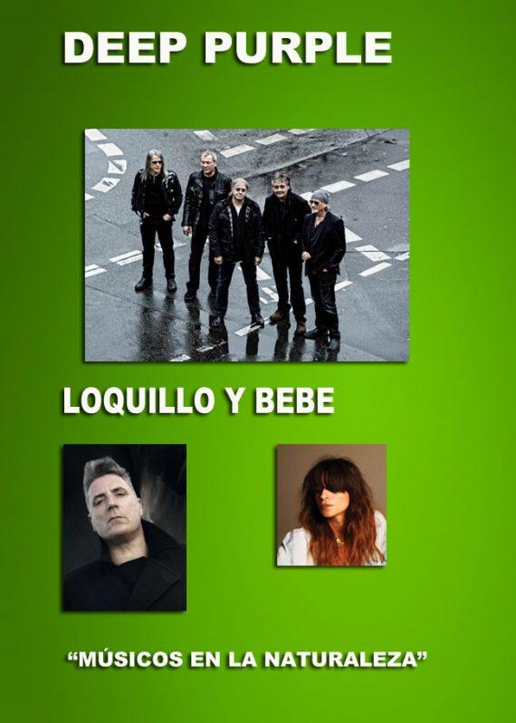 Músicos en la Naturaleza 2013 Deep Purple, Loquillo y Bebe
