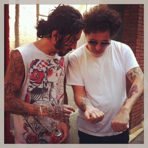 Andrés Calamaro Bohemio con Oscar Moon en Bang Bang Tattoo en Barcelona