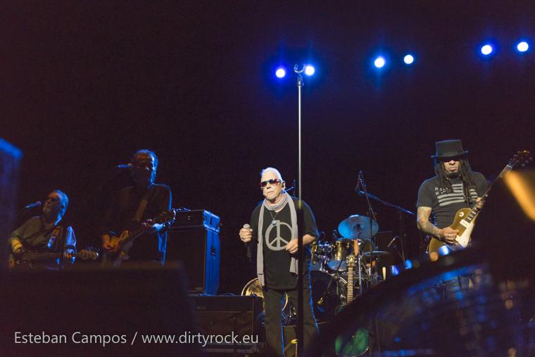 Eric Burdon en el concierto ofrecido en el Auditorio de Las Palmas de Gran Canaria.