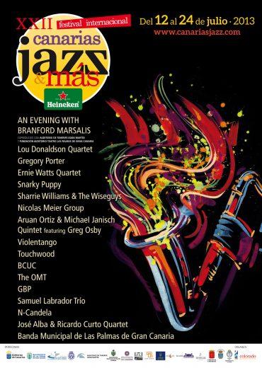 Lou Donaldson, Ernie Watts, Branford Marsalis, Gregory Porter y Greg Osby en la 21ª edición del Festival Internacional Canarias Jazz & Más