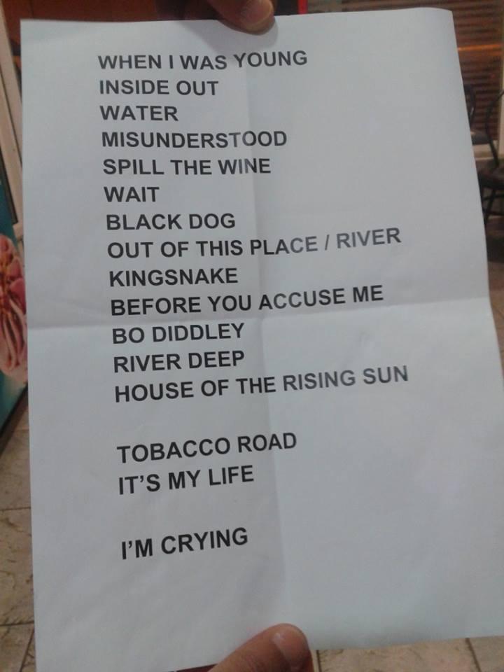Set-List del concierto de Eric Burdon en Gran Canaria_Dirty Rock
