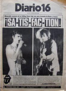 The Rolling Stones en Madrid un 7 de julio de 1982 en el Vicente Calderón