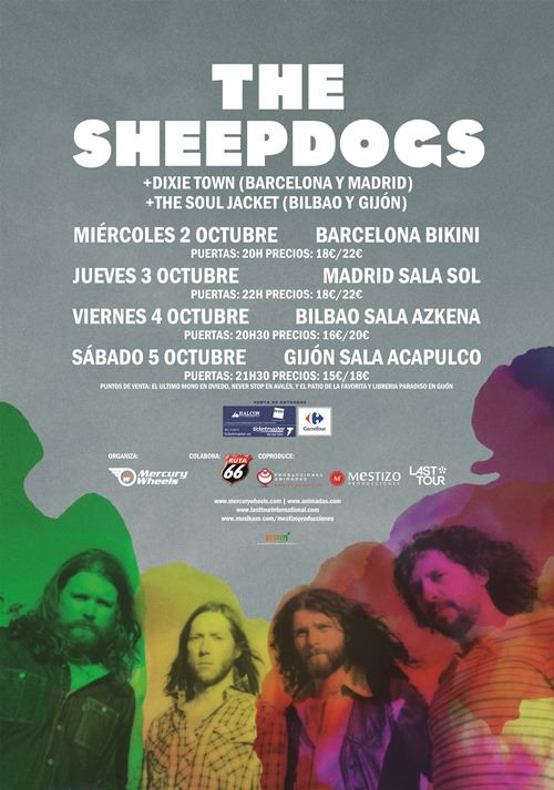 The Sheepdogs gira española junto a The Soul Jacket y Dixie Town