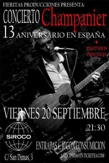 Marcelo Champanier concierto 13 aniversario en España