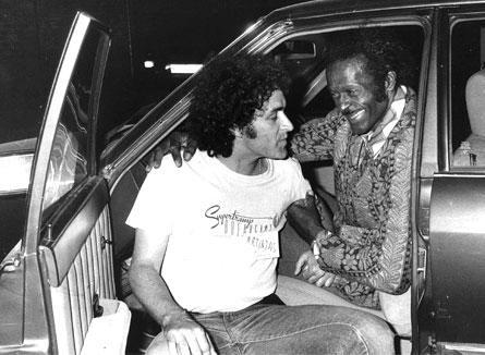 Mariskal junto a Chuck Berry