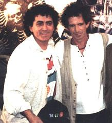 Mariskal junto a Keith Richards