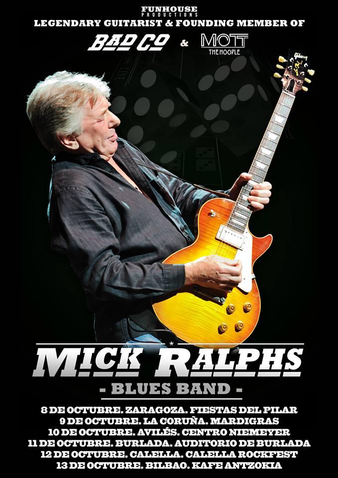 Mick Ralphs gira española 2013