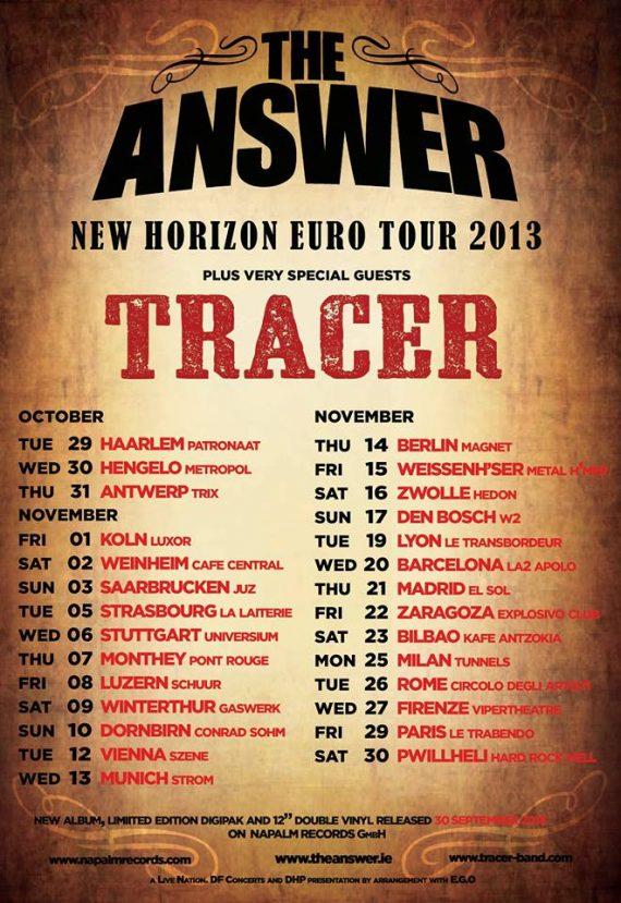 The Answer, gira españaola y europea New Horizon 2013