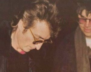 John Lennon 73 aniversario con David Chapman