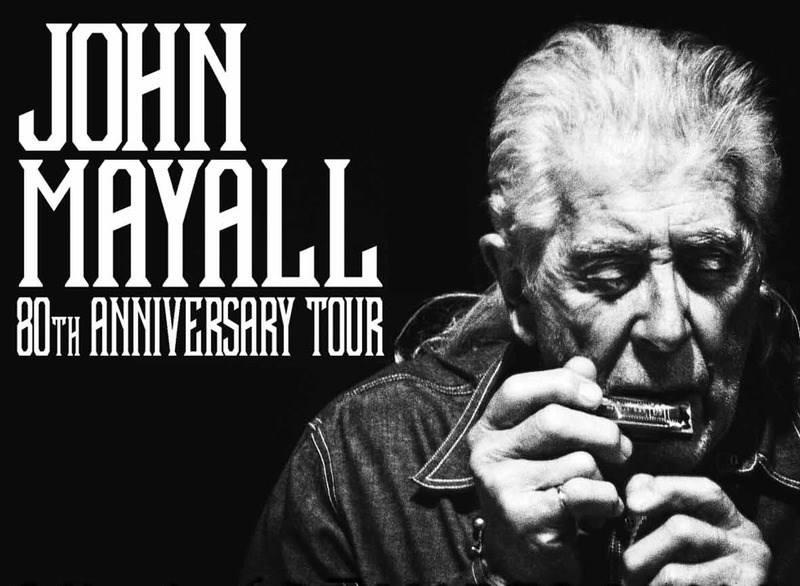 John Mayall Tour gira 80 aniversario