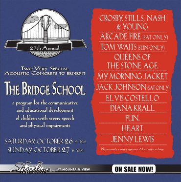 The 27th Annual Bridge School Benefit Concert con CSN&Y, Tom Waits o My Morning Jacket entre otros