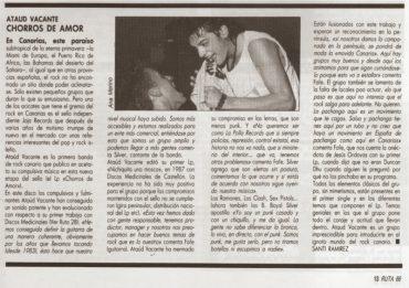 Ataúd Vacante en Ruta66 en marzo 1989 Chorros de amor