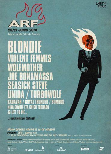 Azkena Rock Festival 2014 Seasick Steve, Violent Femmes, Blondie, Wolfmother y Kadavar, primeros nombres