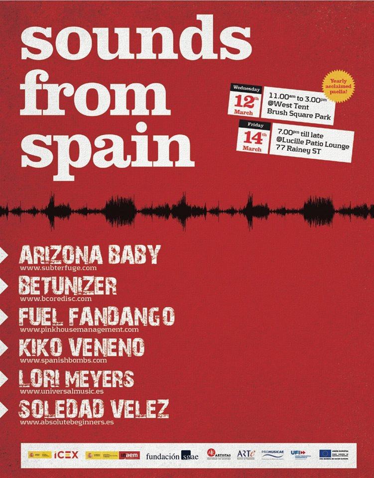 """El festival SXSW en Austin y su representación española """"Sounds from Spain"""" 2014"""