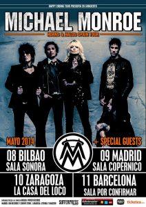 Michael Monroe regresa a España con una nueva gira en mayo