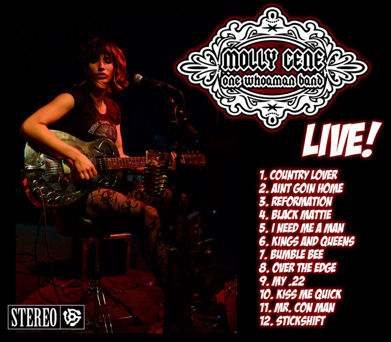 Molly Gene One Whoaman Band Live, nuevo disco en directo