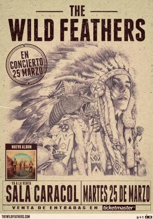 The Wild Feathers en España en marzo, Madrid Sala Caracol