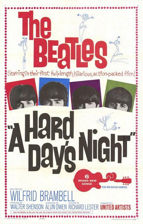 """""""A Hard Day's Nigh"""" película de The Beatles en el cine, DVD y Blu-ray"""