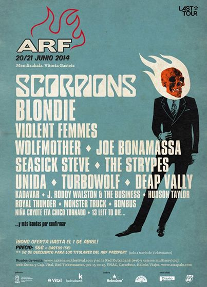 Azkena Rock Festival ARF confirma a J. Roddy Walston and The Business, The Strypes y Deap Vally entre otros