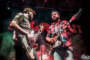 Dixie Town en Salason grabando su álbum en directo Burned Alive