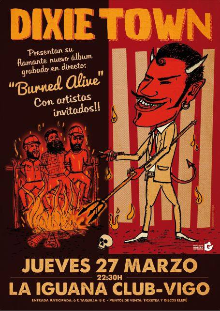 Dixie Town presentan Burned Alive en Vigo y Madrid