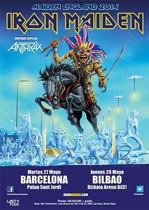 Iron Maiden en concierto en Barcelona y Bilbao 2014