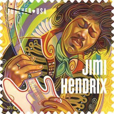 Jimi Hendrix en los sellos del servicio de correos norteamericano