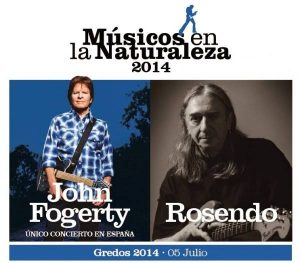 Rosendo acompaña a John Fogerty en el festival Músicos en la naturaleza 2014