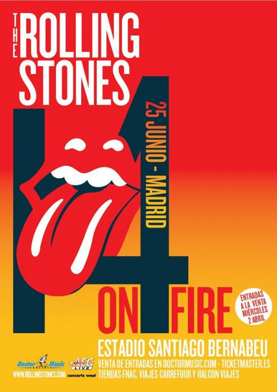 The Rolling Stones en Madrid dentro de su gira europea 14 on Fire
