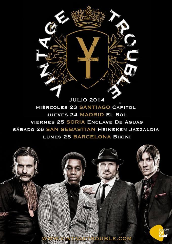 Vintage Trouble, gira española y europea