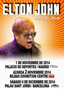 Elton John gira española 2014