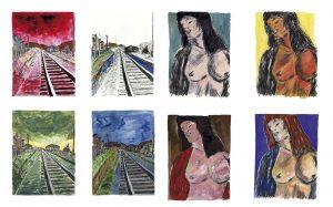 """""""Drawn Blank Series"""" primera exposición de dibujos y bocetos de Bob Dylan en América"""